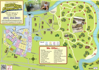 Peace River Campground Site Map