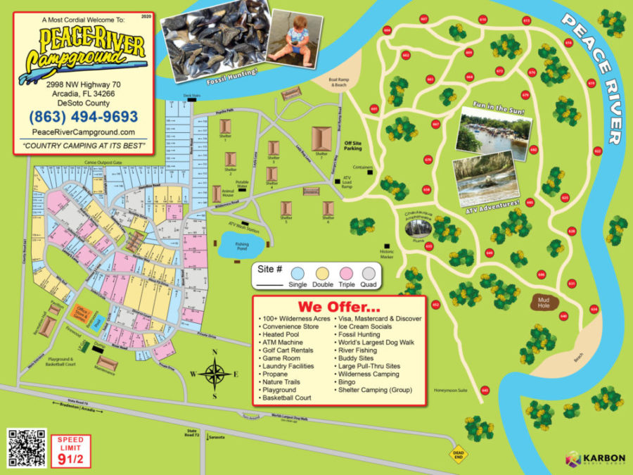 Map of Peace River Campground